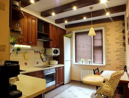 Потолок на кухне (сравниваем 3 варианта): натяжной, окрашенный, подвесной из гипсокартона, фото, цены и отзывы
