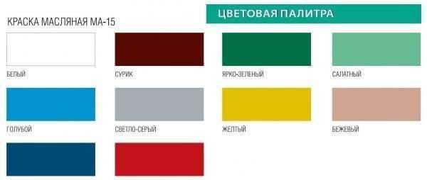 О краске ма-15 для наружных и внутренних работ: технические характеристики