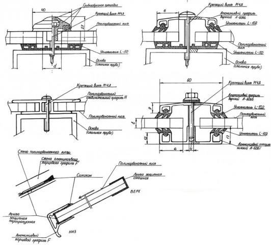 Монтаж поликарбоната на металлический каркас своими руками: фото