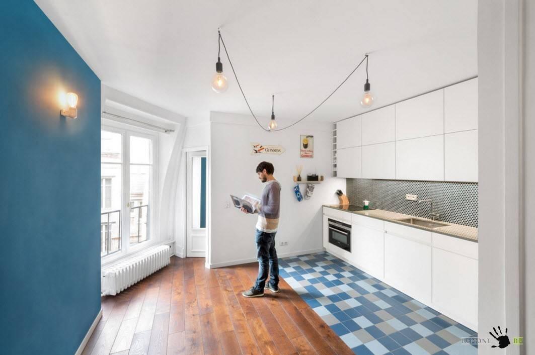 Плитка для кухни на пол: разновидности материала, дизайн фото, процесс укладки плитки своими руками
