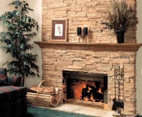 Отделка печи декоративным гипсовым камнем: фото, технология облицовки, советы