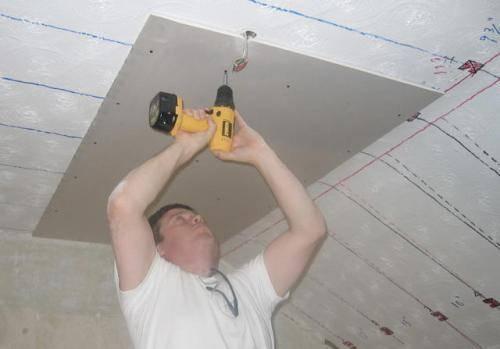 Как крепить гипсокартон к стене без профиля на саморезы