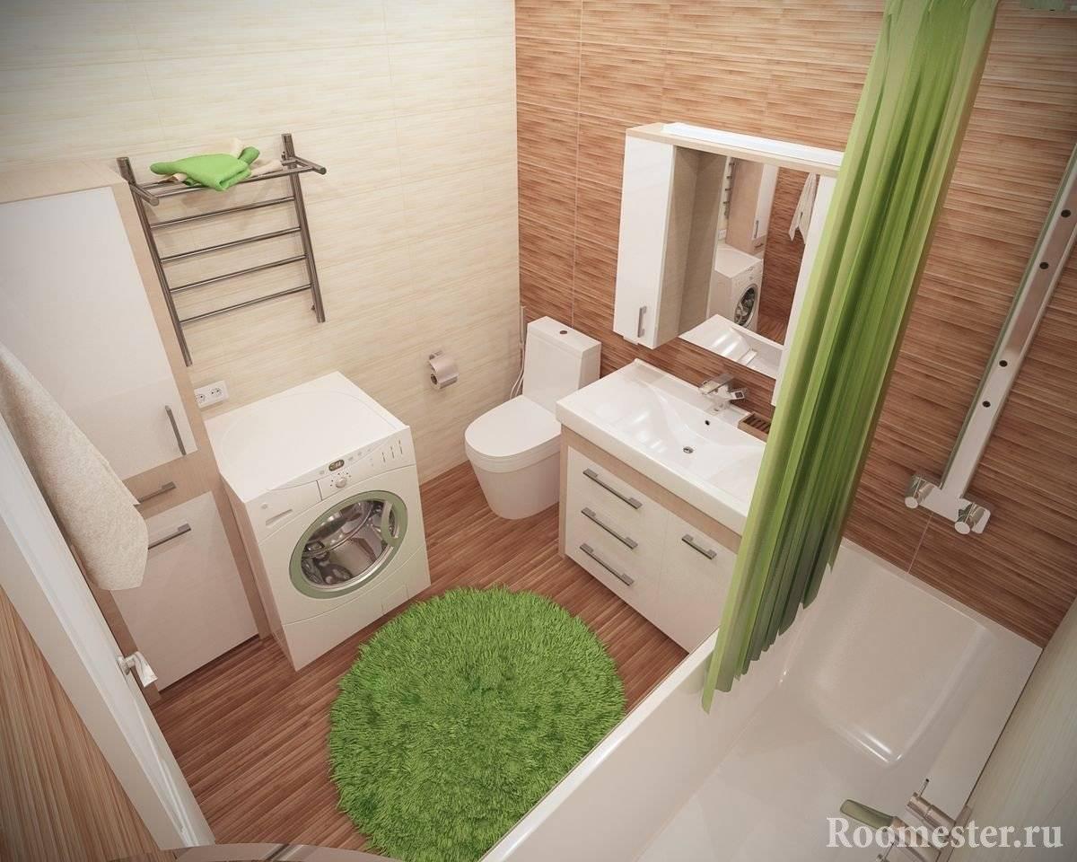 Дизайн совмещенного санузла 3 кв. м: 53 фото ванных комнат с туалетом и стиральной машиной
