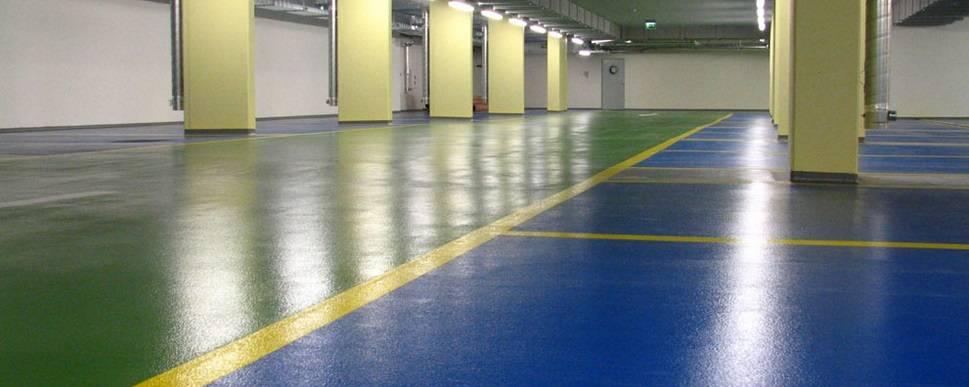 Чем покрасить бетонный пол в гараже чтобы не пылил.
