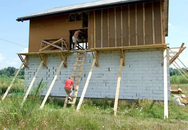 Строительные леса своими руками: надежный помощник для ремонтных работ