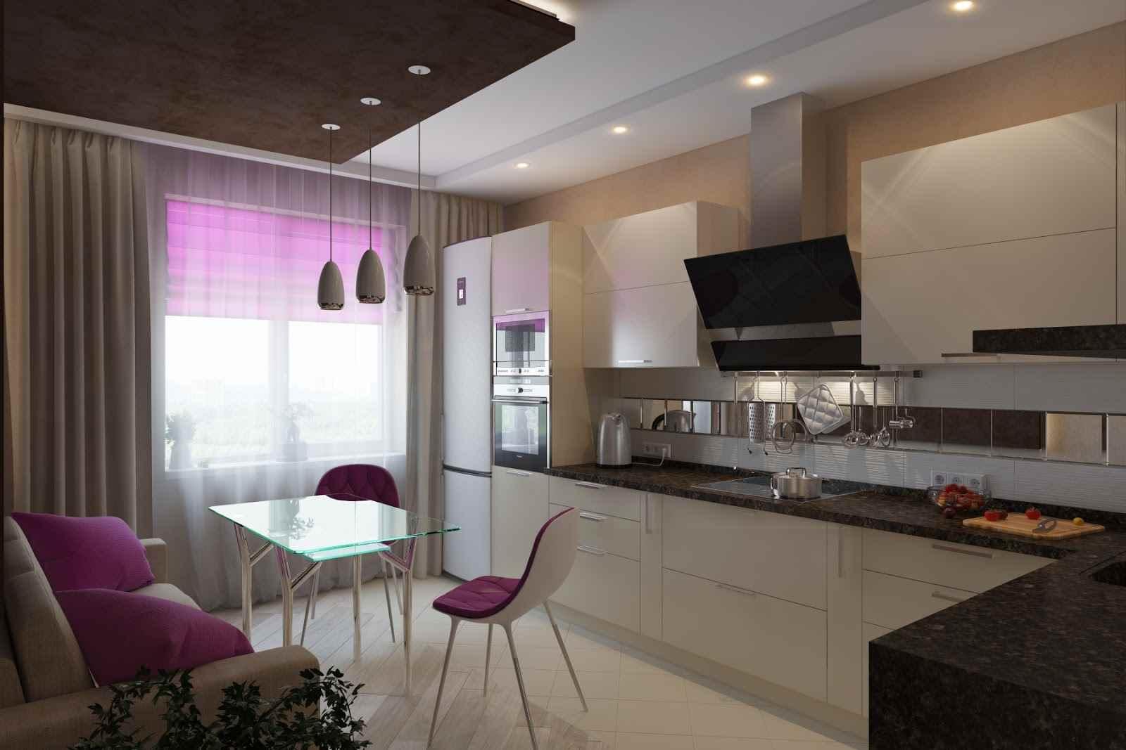 Варианты дизайна кухни площадью 11 кв. м