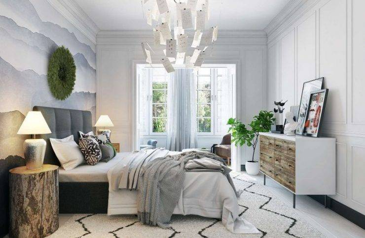 Спальня в скандинавском стиле: 55 фото, гид по дизайну