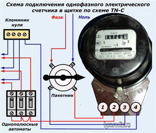 Как подключить трехфазный счетчик: схема подключения, монтаж в щитке.