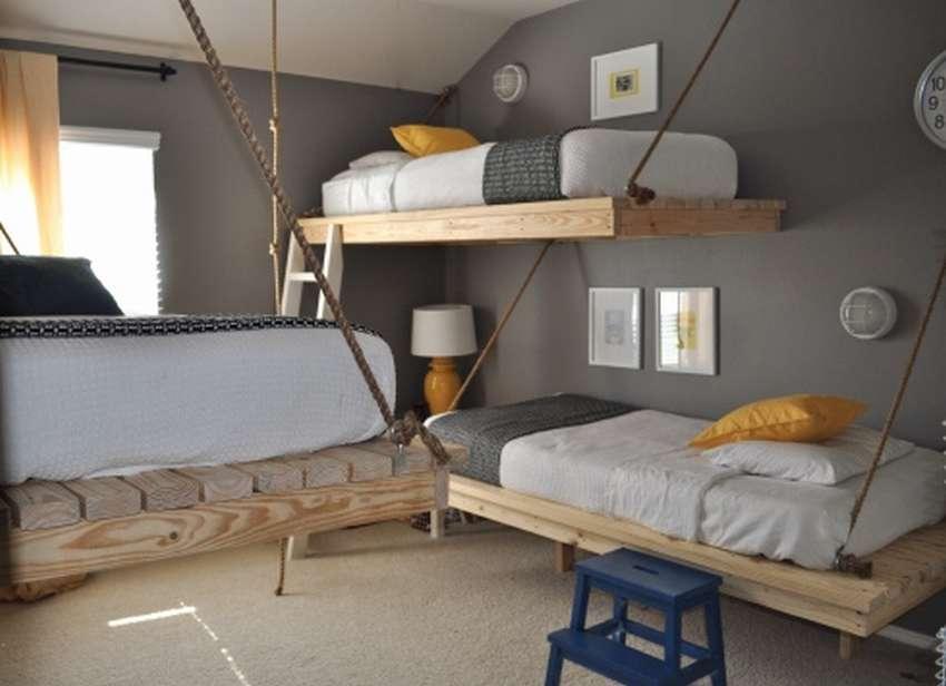 Откидная кровать - 100 фото удобных и комфортных моделей