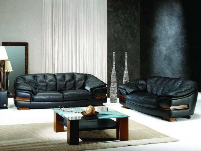 Кожаный диван: 145 фото подбор под интерьера и ухода за обивкой