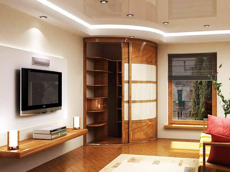 Шкафы в гостиную в современном стиле, и фото возможных вариантов