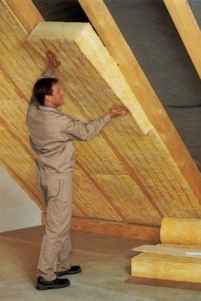 Особенности утепления крыши изнутри минватой