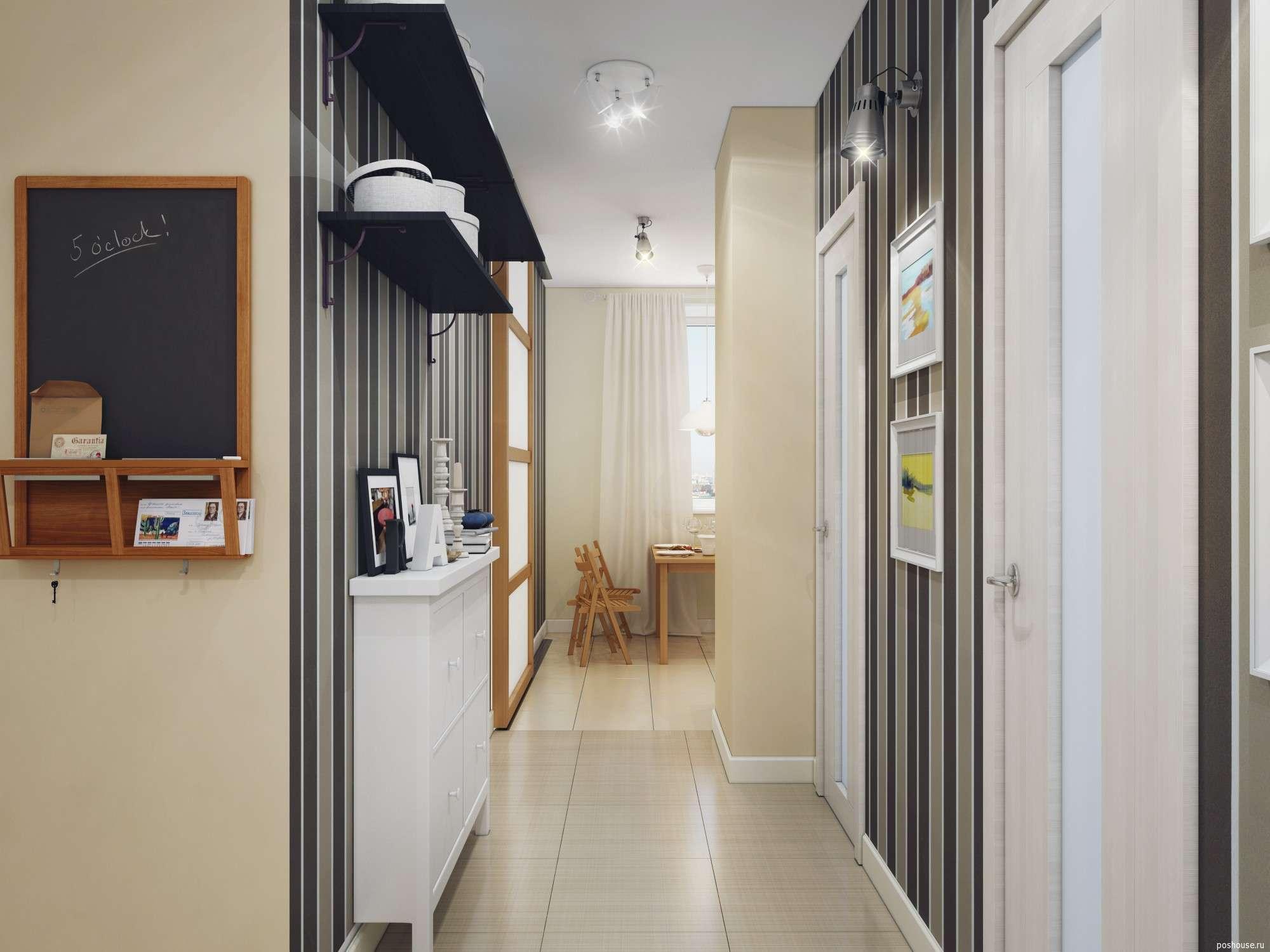 Прихожие для узких коридоров, приемы и хитрости - фото примеров