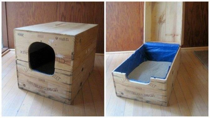 Дом для кошки своими руками, чертежи, фото, видео, как и из чего сделать.