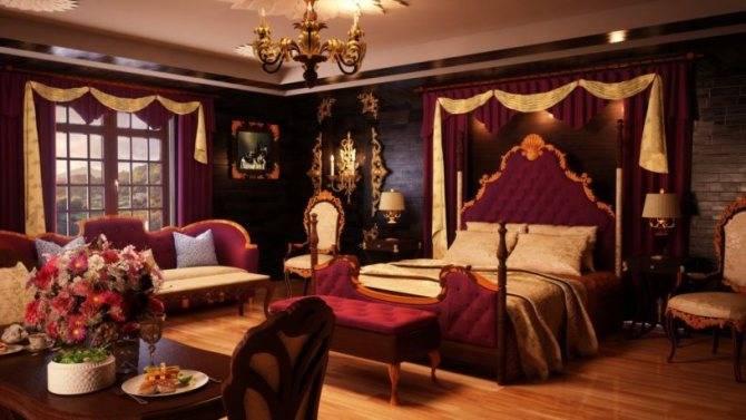 Бордовая гостиная: 100 лучших идей дизайна интерьера