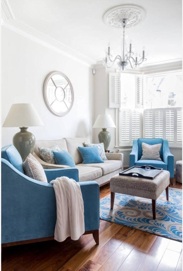 Варианты расстановки мебели в гостиной (40 фото)