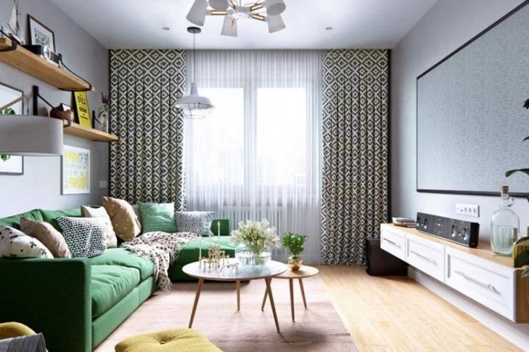 Дизайн гостинной комнаты площадью 17 кв. м в панельном доме — интересные идеи и декор