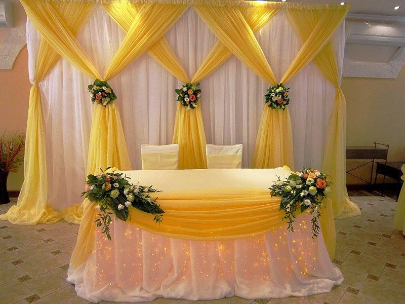 Декор свадебного зала: как выполнить своими руками