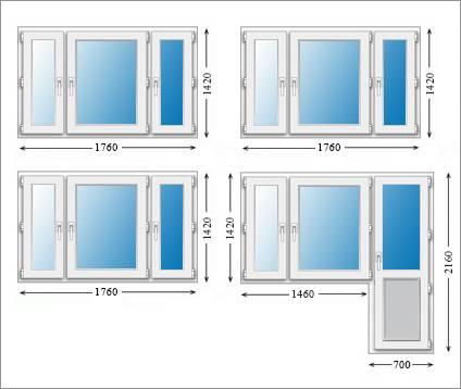 Стандартные размеры пластиковых окон для частного дома