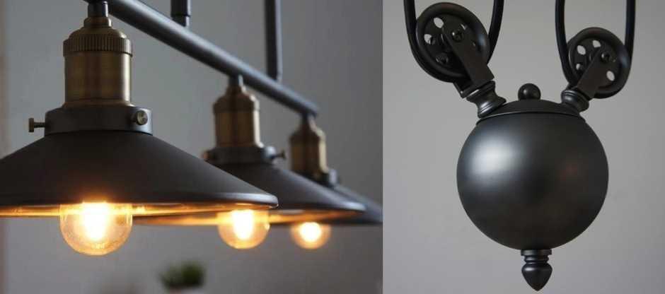 Светильники в стиле лофт (loft) и особенности стиля