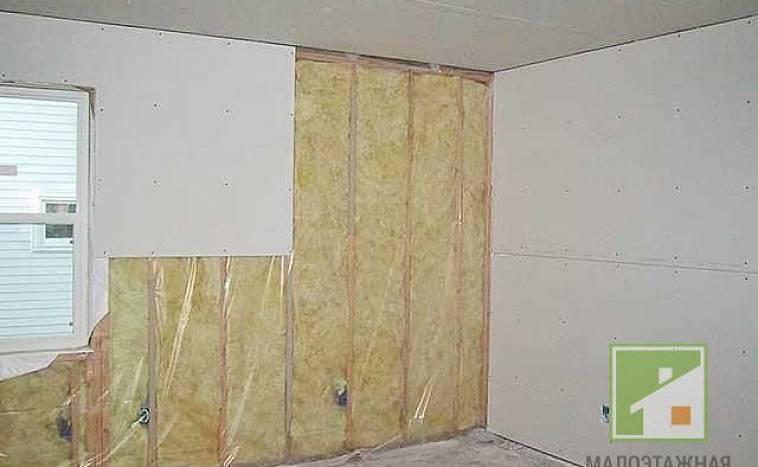 Отделка (обшивка) стен гипсокартоном без каркаса и профиля