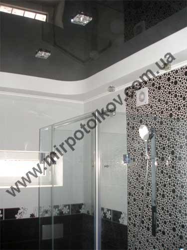 Натяжной потолок черного цвета: 70 фото в интерьере, лучшие идеи дизайна