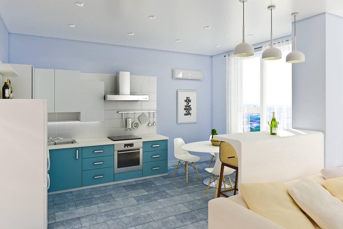Краска в кухонном интерьере - 95 фото примеров