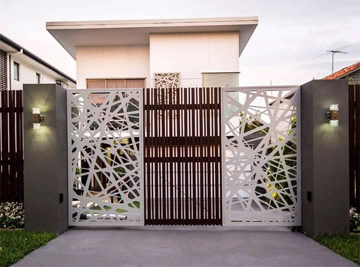 Характеристика вертикальных и горизонтальных складных ворот для дачи