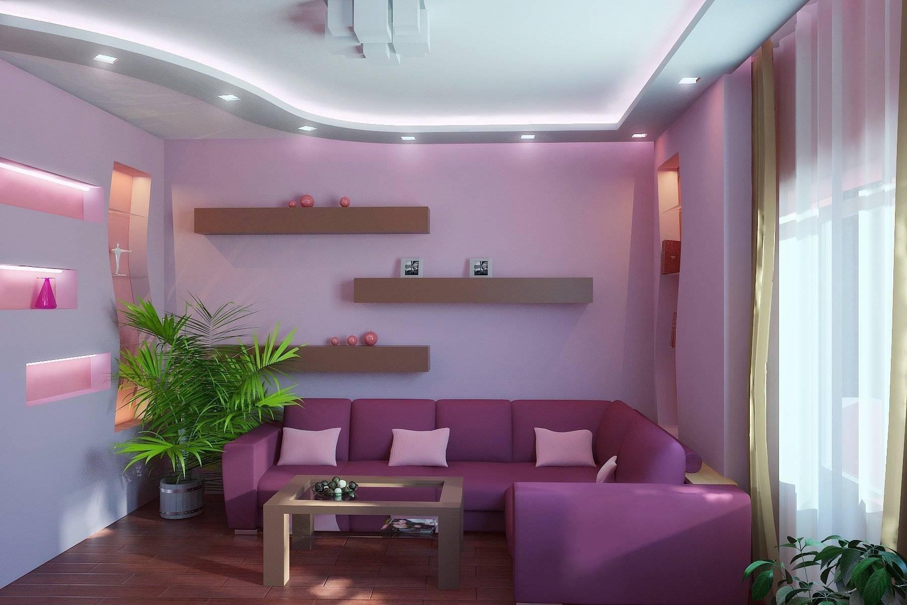 Оформление интерьера в лавандовом цвете: 55+ лучших фото и идей дизайна