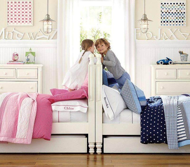 Детские комнаты для разнополых детей разного возраста | варианты оформления