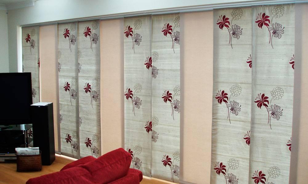 Японские панели-шторы в интерьере квартиры
