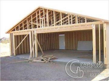 Гараж из досок своими руками - всё о строительстве дома