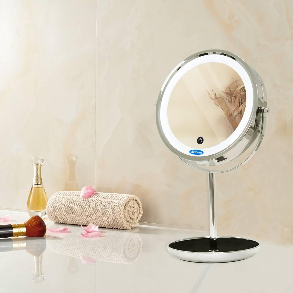Косметическое увеличительное зеркало: настольное двухстороннее изделие с увеличением, увеличивающая модель для макияжа