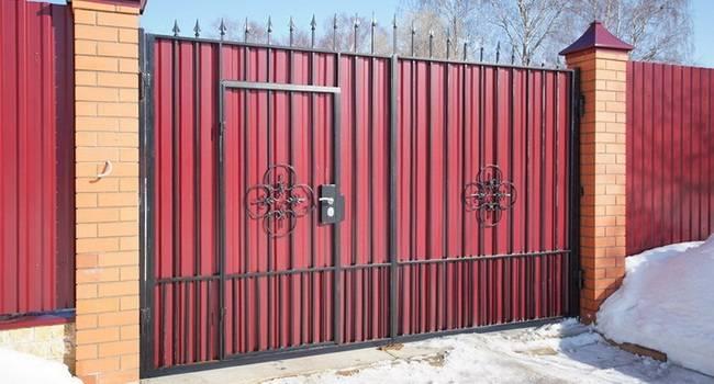 Откатные ворота с калиткой - всё о воротах и заборе
