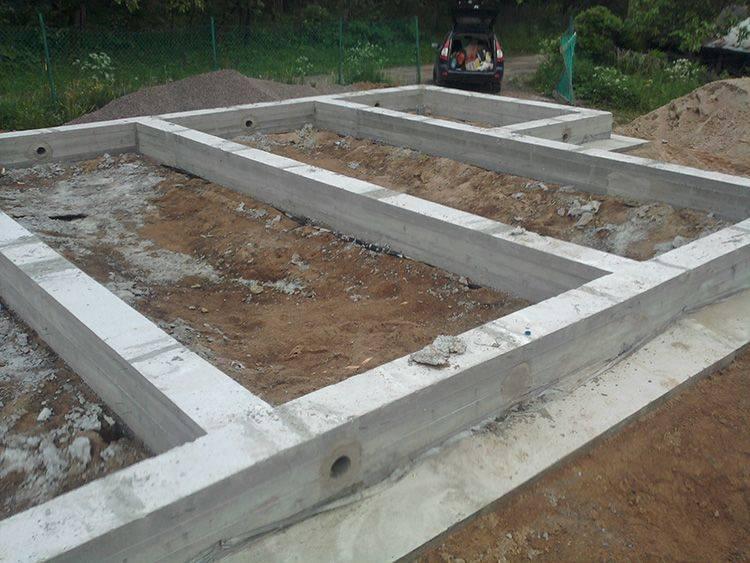 Заглубленный ленточный фундамент – технология строительства