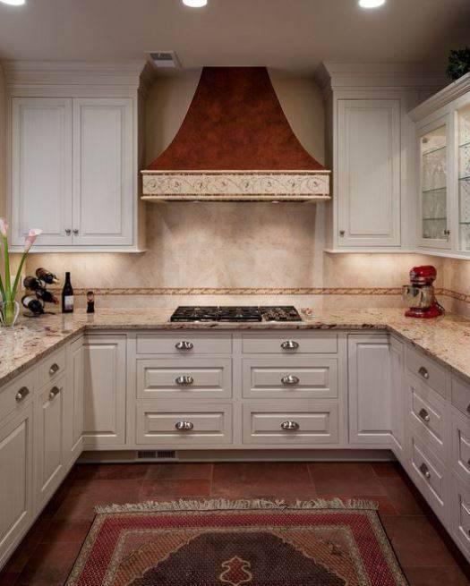 Идеи для комбинирования напольных покрытий на кухне