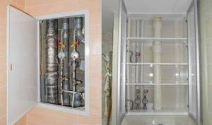 Сантехнический шкаф — дверцы для шкафа в туалете для санузла под плитку в ванной комнате