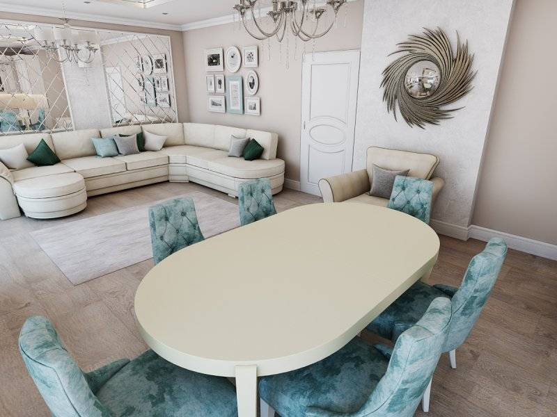 Стол в гостиную — самые современные и стильные варианты для любого интерьера на фото!