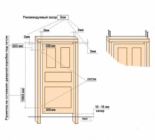 Размер дверной коробки межкомнатной двери: ширина, высота стандартной двери, размеры в разрезе, глубина, толщина короба
