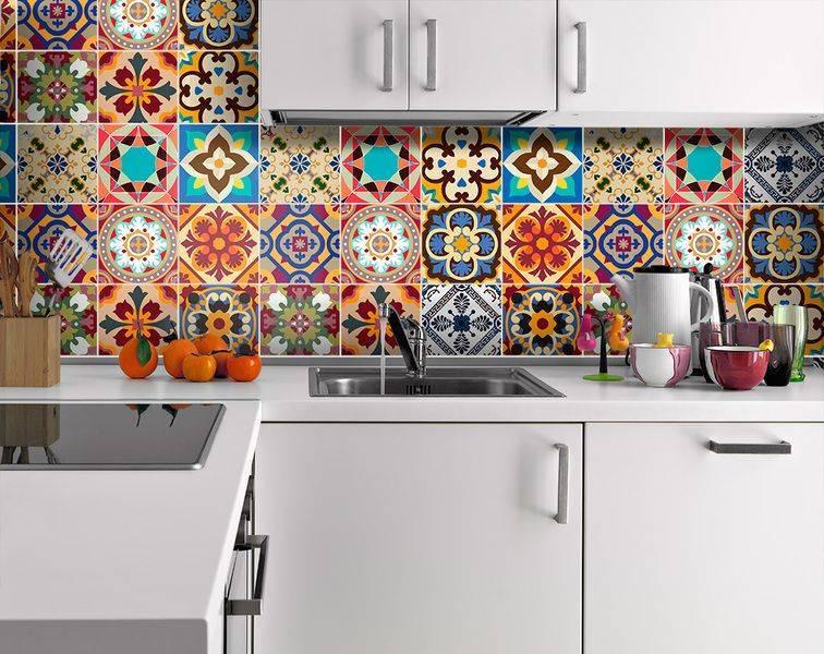 Плитка в стиле пэчворк для кухни: фото кухни с плиткой пэчворк