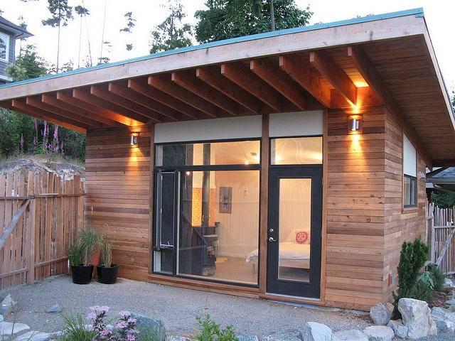 Односкатная крыша для бани: как сделать своими руками