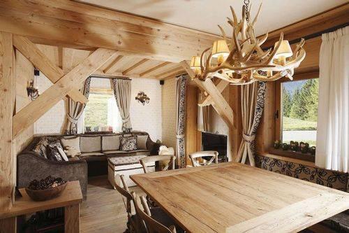 Интерьер деревянного дома - обзор лучших стилей и вариантов оформления (110 фото)