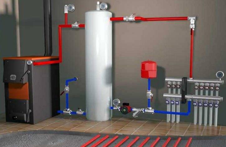 Тепловой аккумулятор для отопления, сборка бака своими руками, схема изготовления системы