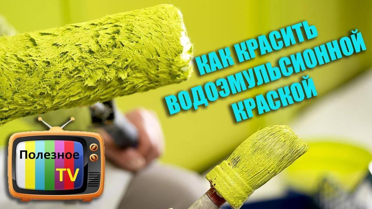 Каким валиком красить потолок, если используется водоэмульсионная краска? как лучше выбрать и какой нужен для покраски стен
