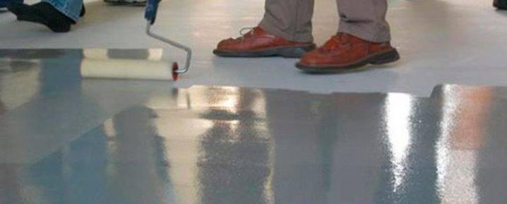 Полимерная краска для бетона (бетонного пола) - виды составов