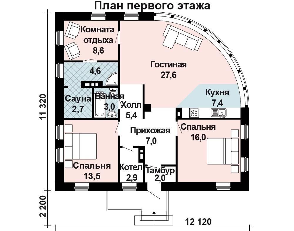 Двухэтажные дома 10 на 10: проекты и виды планировки строений из газобетона, пеноблоков, кирпича, бруса, с гаражом и без