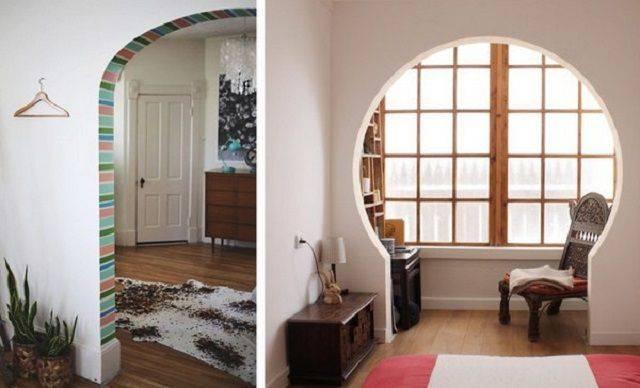 Межкомнатные дверные проемы без дверей: фото и варианты дизайн, как их можно облагородить и декорировать