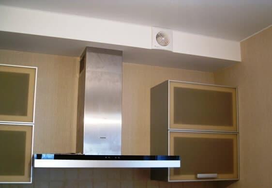 Короб из гипсокартона для вытяжки на кухне-энциклопедия