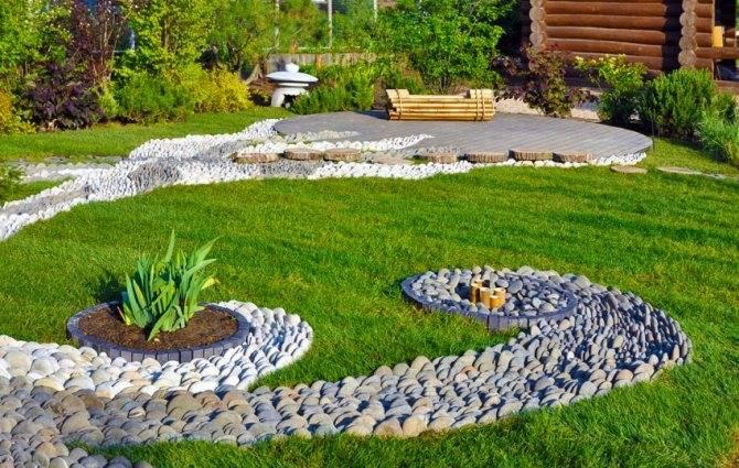 Сухой ручей в ландшафтном дизайне: фото с идеями оформления, материалы, тонкости обустройства