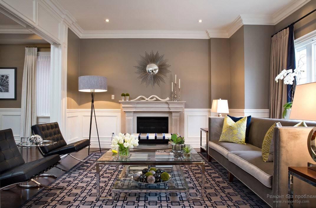 Серый цвет в интерьере, сочетания и характеристика - 50 фото